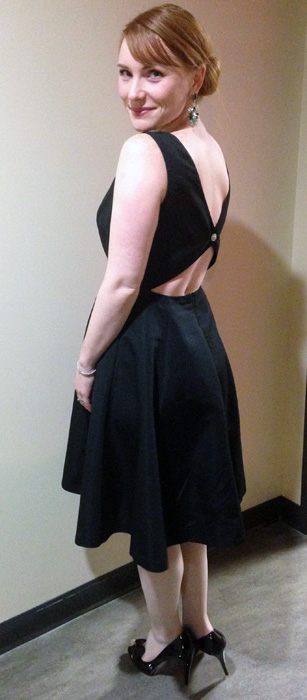 Isaac Mizrahi for Target dress; Audrey Hepburn LBD; Audrey Hepburn black dress; boat neck black dress