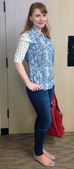 Equipment Brett shirt; Equipment snake skin print blouse; Equipment windowpane print blouse