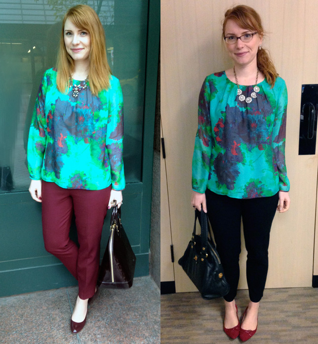 J. Crew hothouse floral blouse