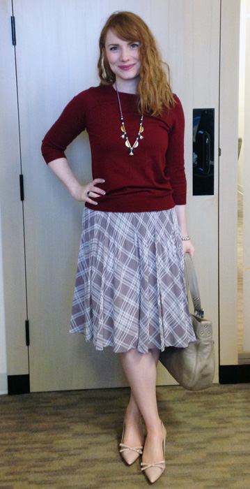 Pleated skirt; pink plaid skirt; pink plaid pleated skirt