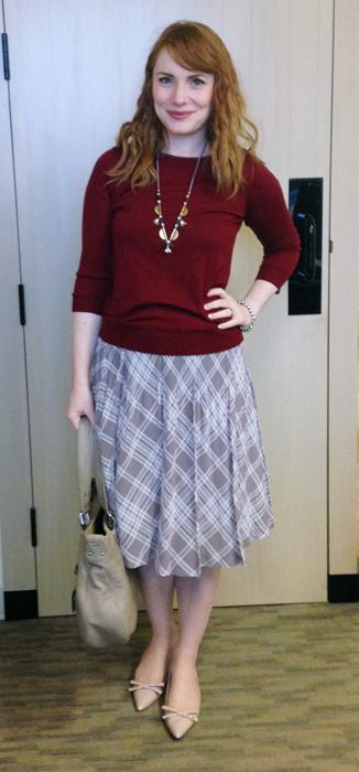Pleated skirt; pink plaid skirt; pink plaid pleated skirt