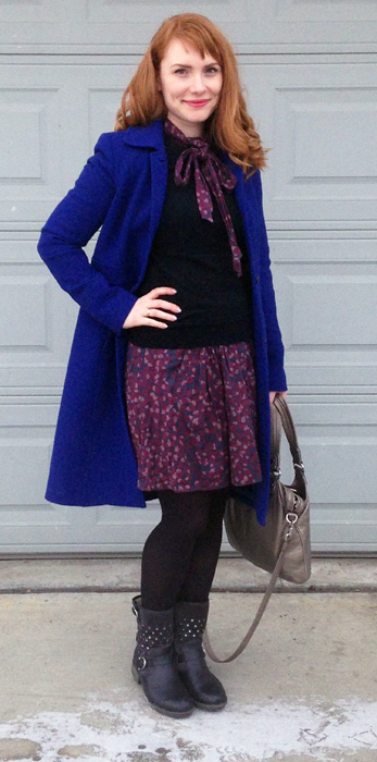 J. Crew Lady Day Coat cobalt blue