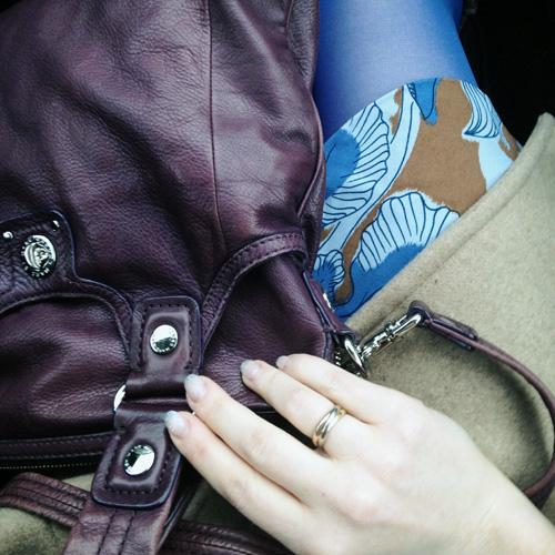 Tibi iris ikat faux wrap dress