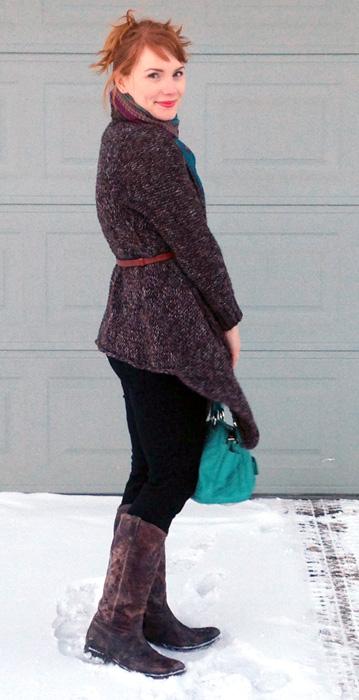 Zara chunky open cardigan