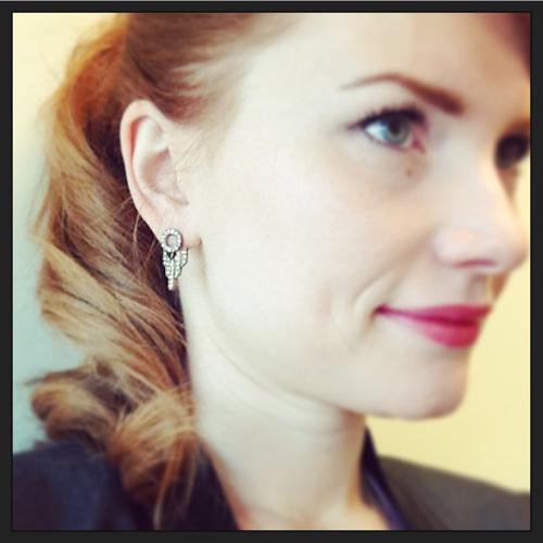 J. Crew art deco arrow earrings