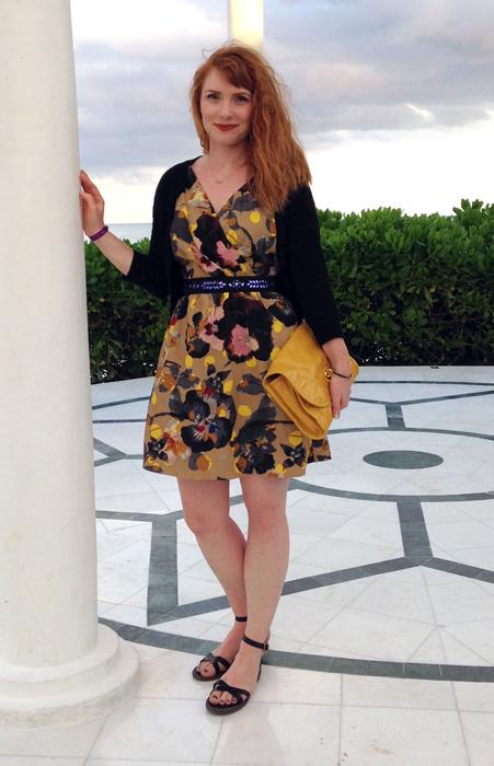 rachel roy floral dress; resort style