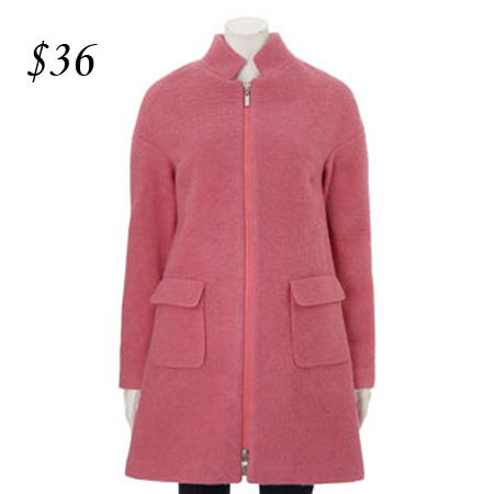 Amaryllis Pink Wool coat