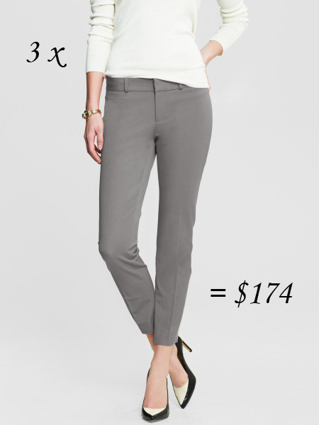 Banana Republic Sloan ankle crop pants