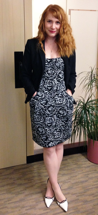 Lida Baday black and white floral dress