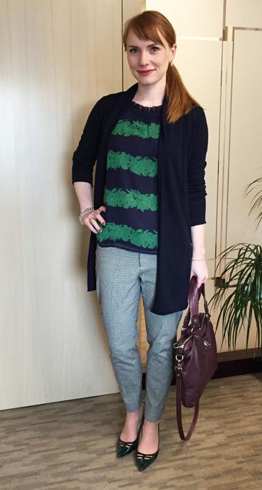 J. Crew beanstalk blouse