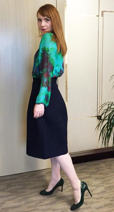 Zara box pleat skirt