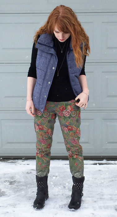 Anthropologie Pilcro floral jeans