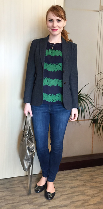J. Crew beanstalk print blouse