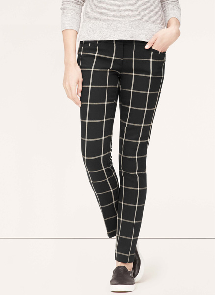 LOFT Marisa Windowpane Pants