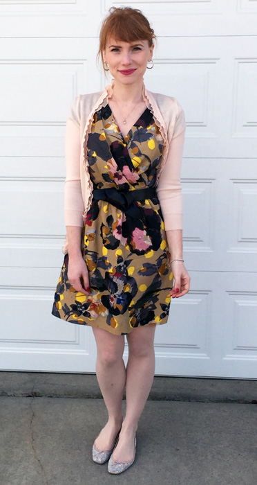 Rachel Roy floral pansy dress