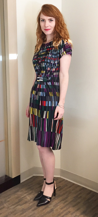 BCBG geometric print dress