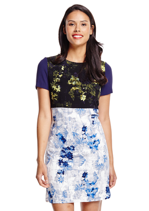 "Found by searching ""Ivanka Trump floral sheath dress"""