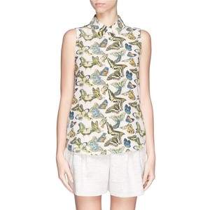 Equipment Butterfly Print Blouse