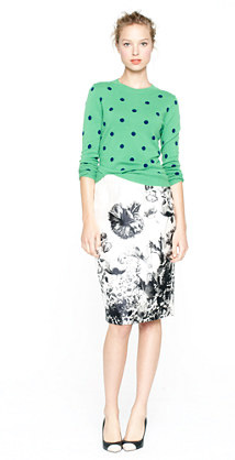J. Crew Collection Photofloral skirt