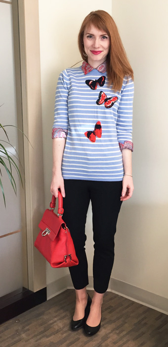 J/ crew butterfly sweater