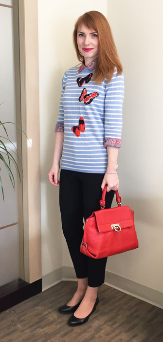 J. crew butterfly sweater