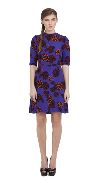 Marc Jacobs Mareika Silk Tulip Dress