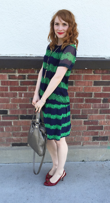 still loving the faux dress ...