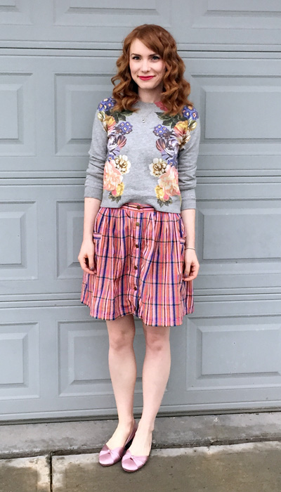 skirt, Marc Jacobs (via consignment); top, J. Crew; shoes, Bloch