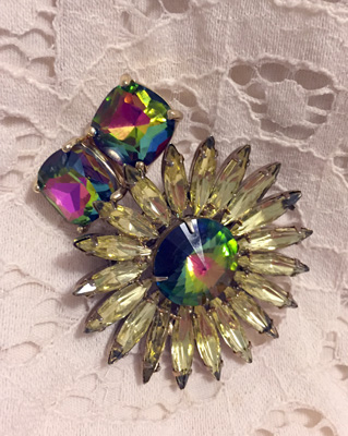 vintage brooch and earrings from Winners