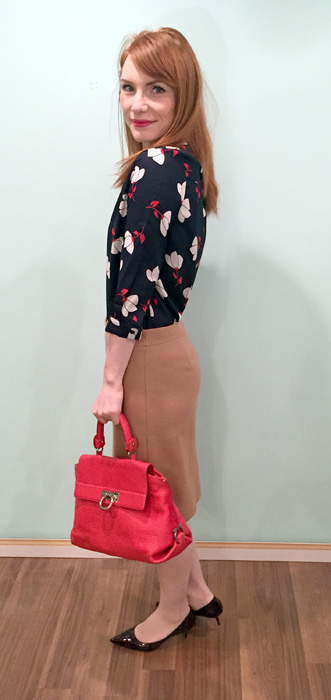 red bag goes with everything?