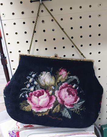 vintage needlepoint bag ($40)