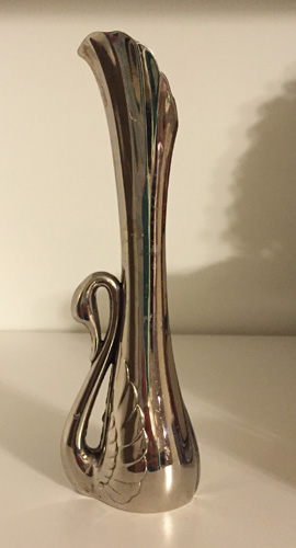 brass-plated (?) mini vase ($3)