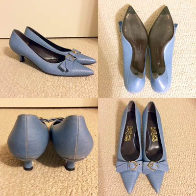 Ferragamo kitten heel pumps, $8