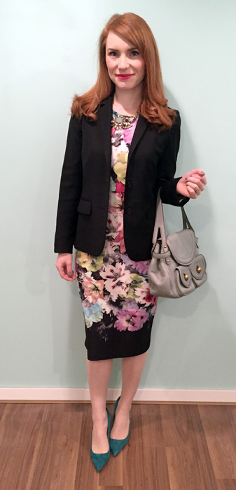 blazer, J. Crew (thrifted); bag, Marc Jacobs (via eBay)