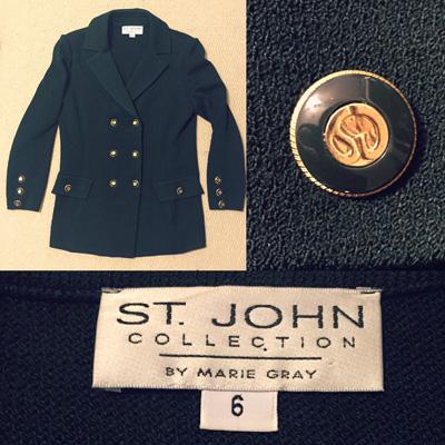 St. John knit blazer ($6)