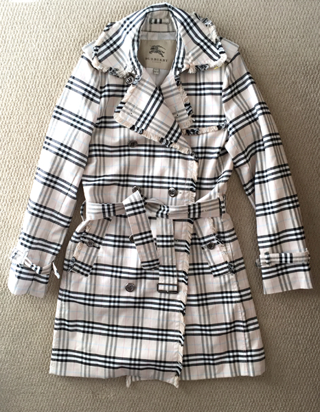 Burberry trench, $8 (!!!)