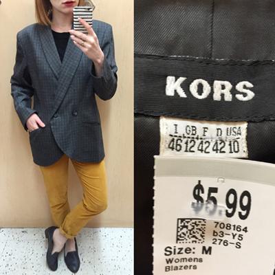 Kors blazer ($6)