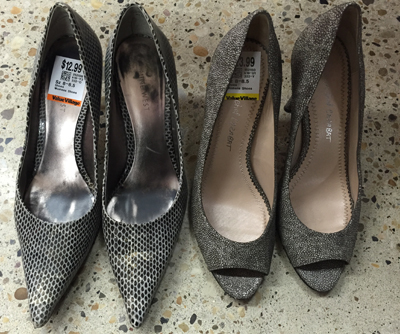 Nine West pumps (left); Jean Michel Cazabat pumps (right) -- left those behind