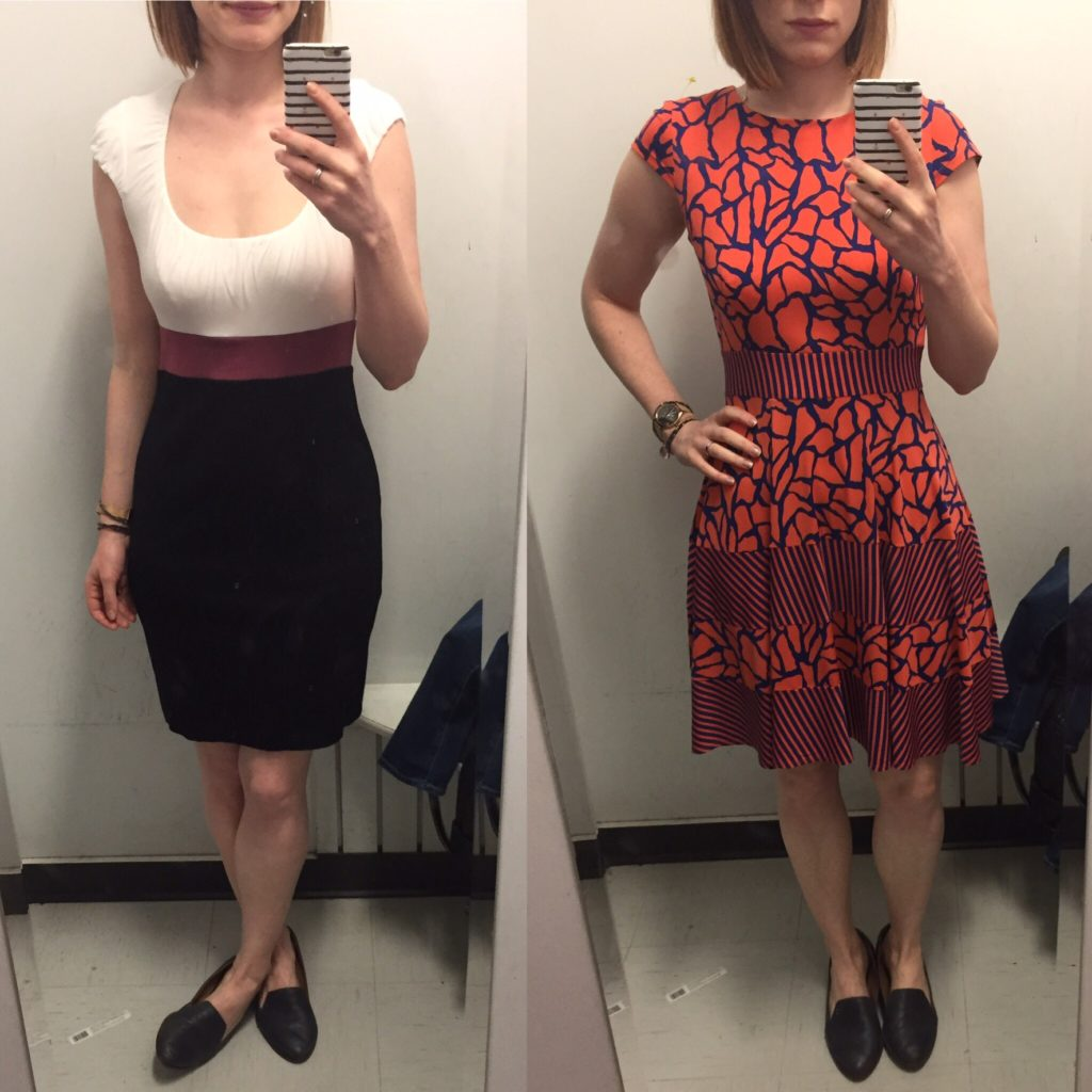 left: Bailey 44 dress; right: Gabby Skye dress