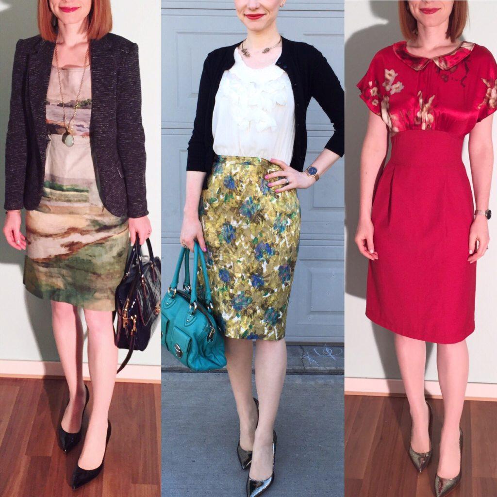 L to R: Odille dress (via eBay); Moulinette Soeurs dress (via eBay); Allison Wonderland dress (thrifted)