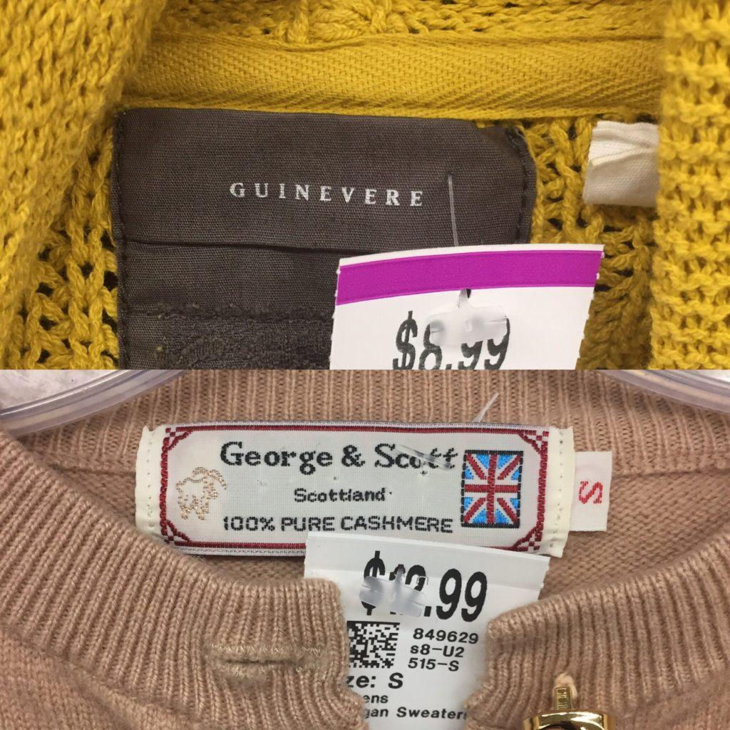 Guinevere (Anthro) cardigan; cashmere cardigan