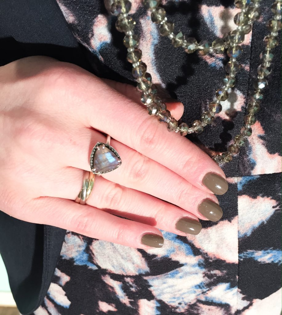 necklace, Cleo; ring, Nordstrom