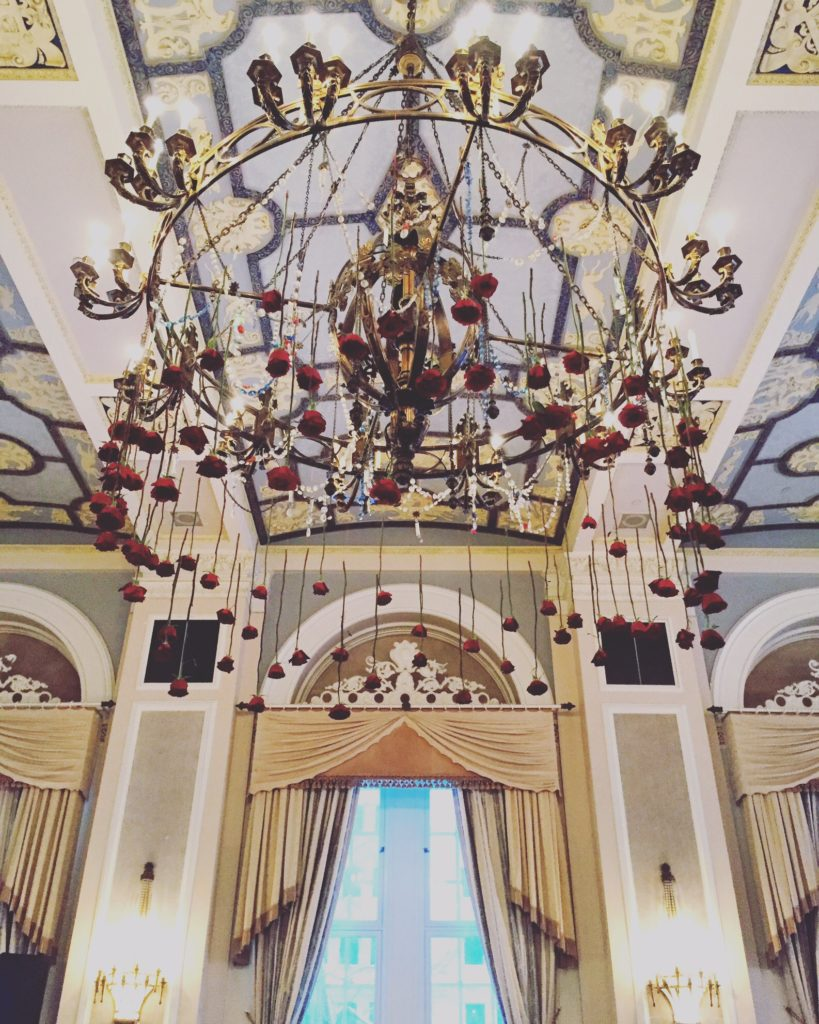 the rose chandelier
