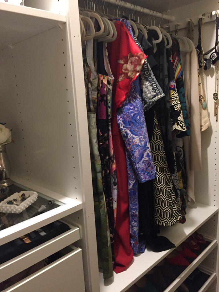 dresses peeking out