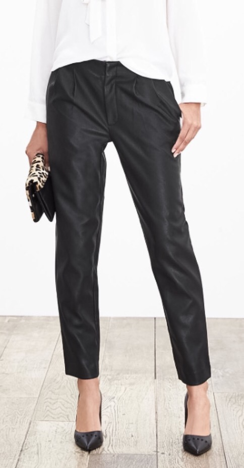 Banana Republic faux leather pants (!)