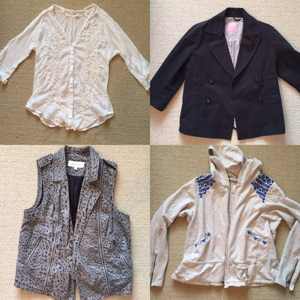 Clockwise from top left: Anthropologie, Ted Baker, Anthropologie, Daniel Rainn
