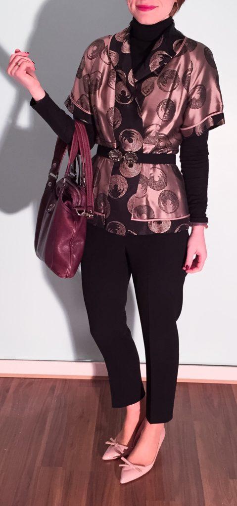 pink, black & burgundy