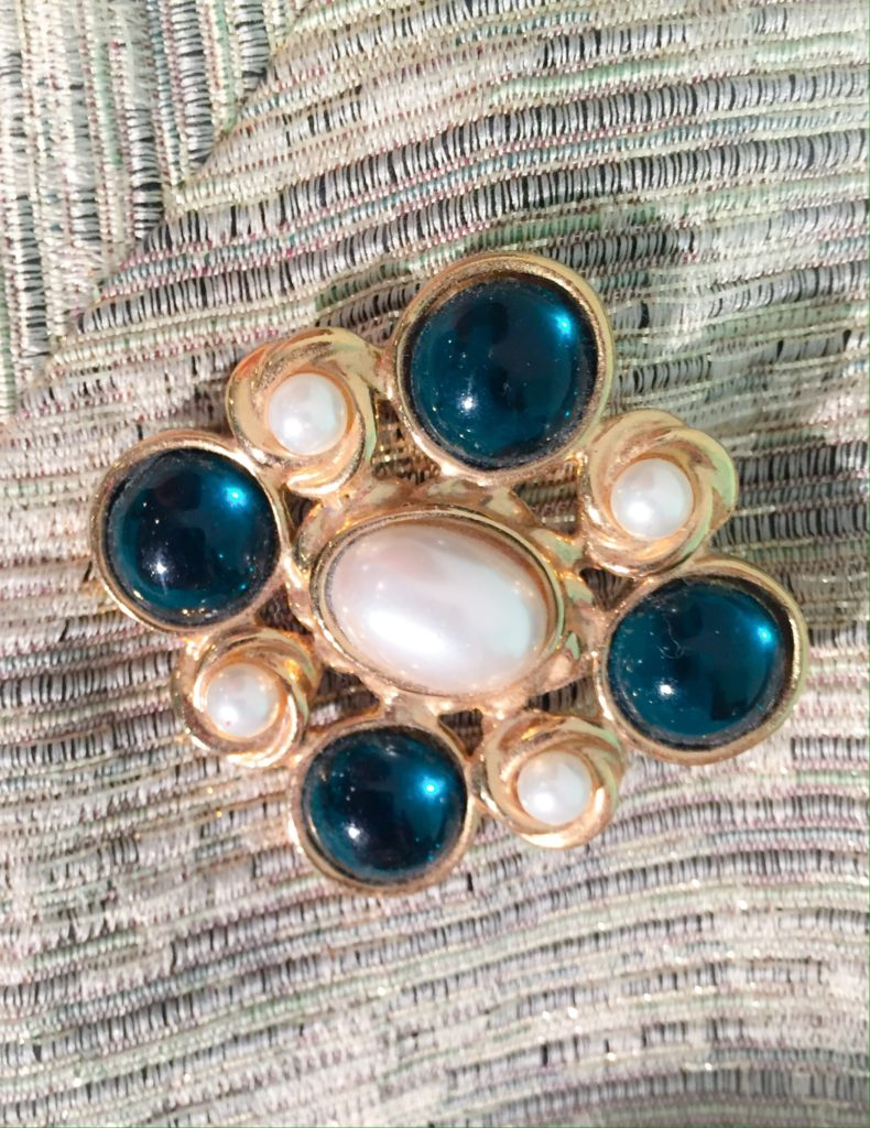 Thrifted brooch - Chanel-esque?