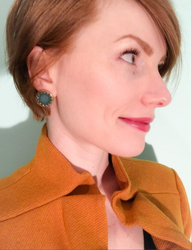 green earrings (House of Harlow)