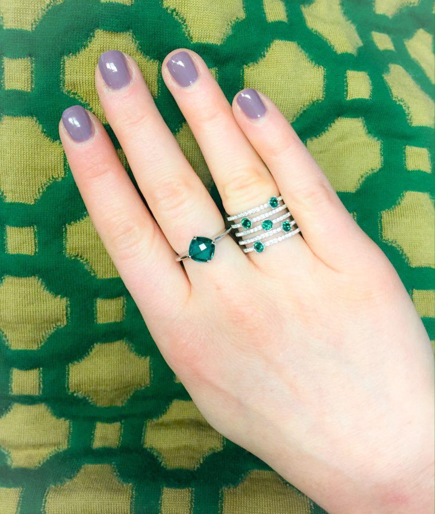 green rings (Swarovski)